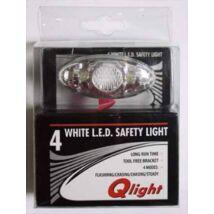 Schwinncsepel Villogo Első Qlight 4fehér led+2xcr2032 4funk.