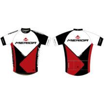 Merida Mez 2014 41 rövid piros-fehér-fekete végig zipzár - Team replica