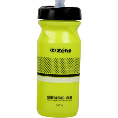 Zefal Kulacs Sense M65 - 650Ml Menetes Neon Sárga (Fekete/Fehér)