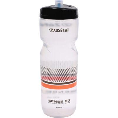 Zefal Kulacs Sense M80 - 800Ml Menetes Átlátszó (Fekete/Narancs)