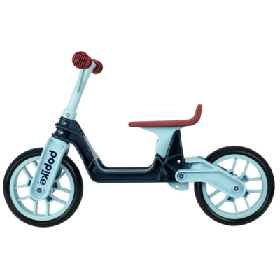 Bobike futókerékpár, összehajtható sötétszürke/farmer kék