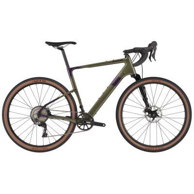 Cannondale Topstone Carbon Lefty 3 2021 férfi Gravel Kerékpár zöld