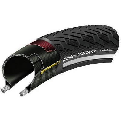 Continental gumiabroncs kerékpárhoz 50-622 CruiseContact 28x2,0 fekete/fekete, reflektoros