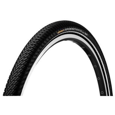 Continental gumiabroncs kerékpárhoz 55-559 TopContact Winter II Premium 26x2,2 fekete/fekete, Skin reflektoros, hajtogathatós