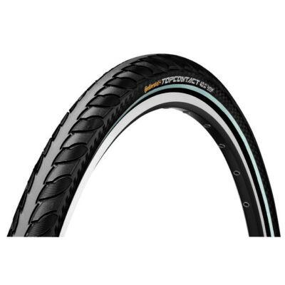 Continental gumiabroncs kerékpárhoz 32-622 TopContact II 700x32C fekete/fekete, Skin hajtogathatós reflektoros