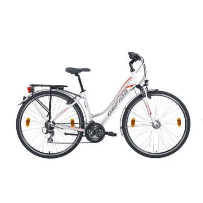 Gepida ALBOIN 300 28'' 2019 női Trekking Kerékpár gyöngyfehér