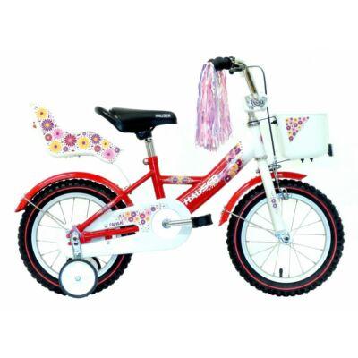 """Hauser BMX14"""" Swan fehér/piros kosárral és babaüléssel Gyerek Kerékpár"""