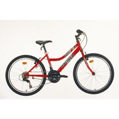 "Hauser 24"" Wolf 18seb női piros Gyerek Kerékpár"