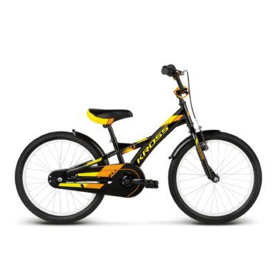 Kross Eli 2018 Gyerek Kerékpár black-yellow-orange glossy