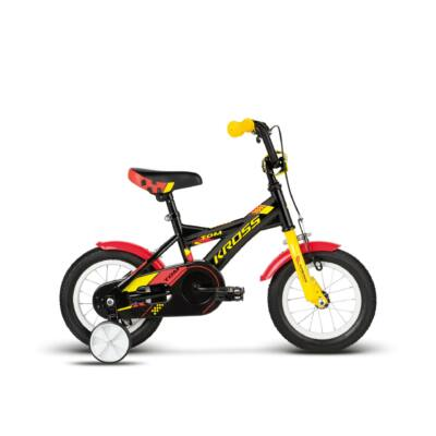 Kross Tom 2018 Gyerek Kerékpár black-yellow-red matte