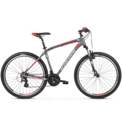 "Kross Hexagon 2.0 27,5"" 2019 férfi Mountain Bike graphite/silver-red"