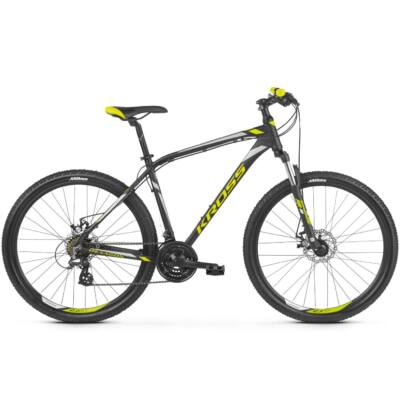 "Kross Hexagon 3.0 26"" 2019 férfi Mountain Bike black/lime-silver"