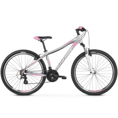 "Kross Lea 2.0 27,5"" 2019 női Mountain Bike silver/white-pink"