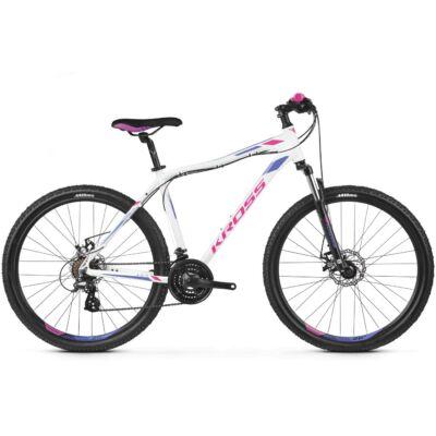 """Kross Lea 3.0 27,5"""" 2019 női Mountain Bike white/pink-violet"""