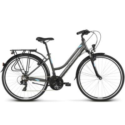 Kross Trans 1.0 2019 női Trekking Kerékpár graphite/sky blue-white