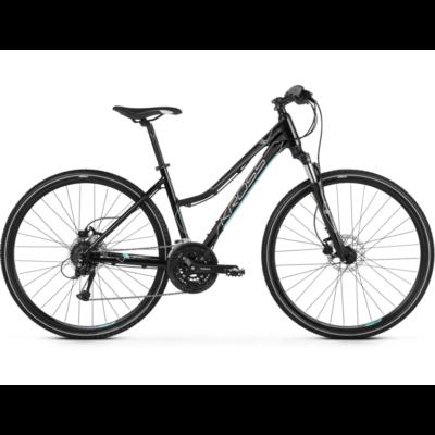 Kross Evado 5.0 2021 női Cross Kerékpár fekete-türkiz