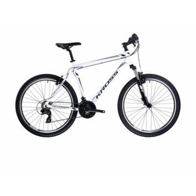 Kross Hexagon 1.0 26 2021 férfi Mountain Bike fehér-szürke-fekete