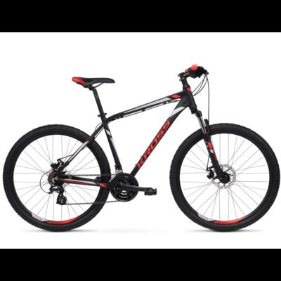 Kross Hexagon 3.0 26 2021 férfi Mountain Bike fekete-piros-ezüst
