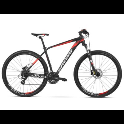 Kross Level 1.0 29 2021 férfi Mountain Bike fekete-piros-fehér