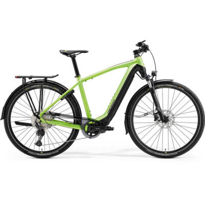 Merida Espresso 600 Eq 2021 férfi E-bike matt zöld (fekete)