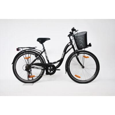 """Trans Montana City 26"""" acél 1 sebességes női City kerékpár fekete"""