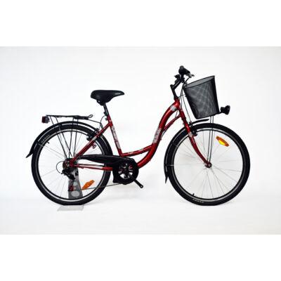 """Trans Montana City 26"""" acél 1 sebességes női City kerékpár bordó"""
