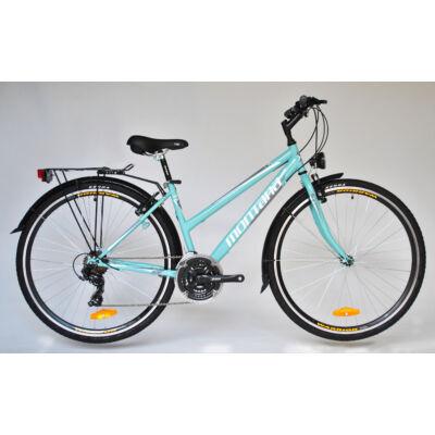 """Trans Montana Trekking 1.0 acél női kerékpár 28"""" celeste (türkizzöld)"""