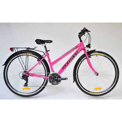 """Trans Montana Trekking 1.0 acél női kerékpár 28"""" pink-fehér"""