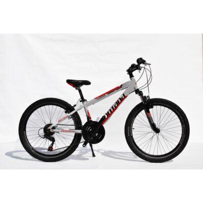 "Montana MTB 24"" Alu. Junior fiú gyerek kerékpár fehér/piros"