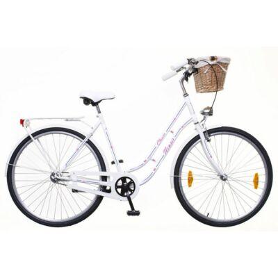 Neuzer Classic Prémium 28 1S női City Kerékpár fehér/kék-piros