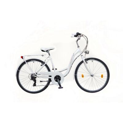 Neuzre Venezia 30 női City Kerékpár fehér/rózsa-zöld