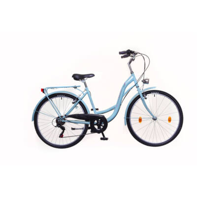 Neuzer Venezia 6 női City Kerékpár celeste/piros-zöld