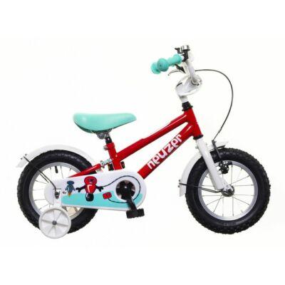 Neuzer BMX 12 fiú Gyerek Kerékpár piros/fehér-türkiz