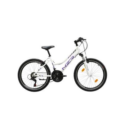 Neuzer Mistral 24 lány Gyerek Kerékpár fehér-lila-fekete