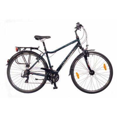 Neuzer Ravenna 100 Trekking Kerékpár fekete/ cián-piros
