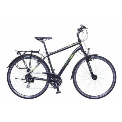 Neuzer Firenze 200 férfi Trekking Kerékpár fekete/zöld-szürke matt