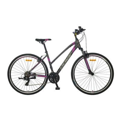 """Polar Forester Comp 28"""" noi Cross Kerékpár szürke-lila"""