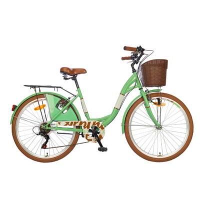 """Polar Bohemia 6-fokozat 26"""" női City Kerékpár türkiz"""