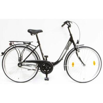 Schwinncsepel BUDAPEST B 26/18 N3 19 női City Kerékpár fekete