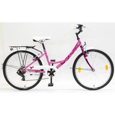 Schwinncsepel FLORA 24 6SP 17 Gyerek Kerékpár rózsaszín