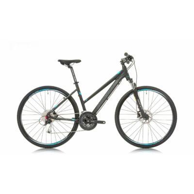 """Shockblaze Faster ACERA/ ALTUS L 28"""" női Cross Kerékpár fekete-kék"""