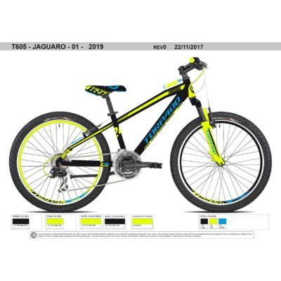 "Torpado T605 JAGUARO 24"" AL 2019 - Shimano Acera 21v EF40 gyerek kerékpár"