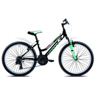 "Torpado T616 CANDY 24"" 2019 - Shimano TY300 18v gyerek kerékpár fekete/zöld"