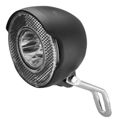 Velotech Első lámpa dinamós 15Lux fek.