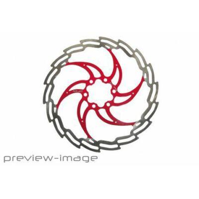 XLC Féktárcsa 160 mm ezüst-piros BR-X02
