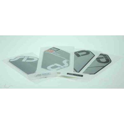 RockShox opc. DOMAIN R matrica készlet, ezüst-fekete