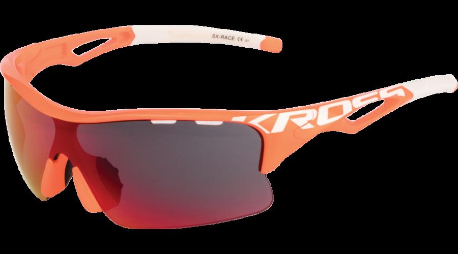 Kross Szemüveg SX-RACE 1 narancs-fehér 670c58f041