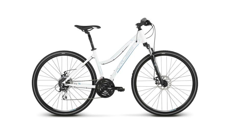 Kross Evado 4.0 2018 női Cross Kerékpár white-blue glossy 3191c4d1c0