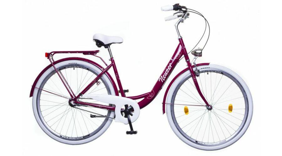 85fd1b04e944 Neuzer Balaton Premium 28 N3 női City Kerékpár padlizsán/fehér-barna
