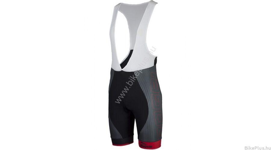 Rogelli ANDRANO férfi kerékpáros kantáros betétes rövidnadrág  fekete szürke piros f0e4042610